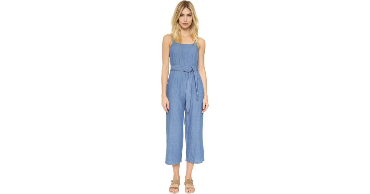Lyst Madewell Muralist Jumpsuit In Blue
