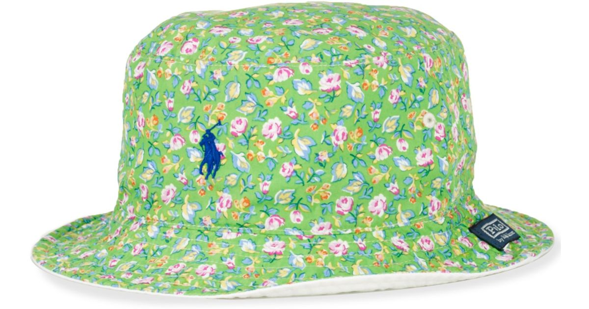 Lyst - Ralph Lauren Polo Big and Tall Reversible Bucket Hat in Green for Men 6aacb4e3701