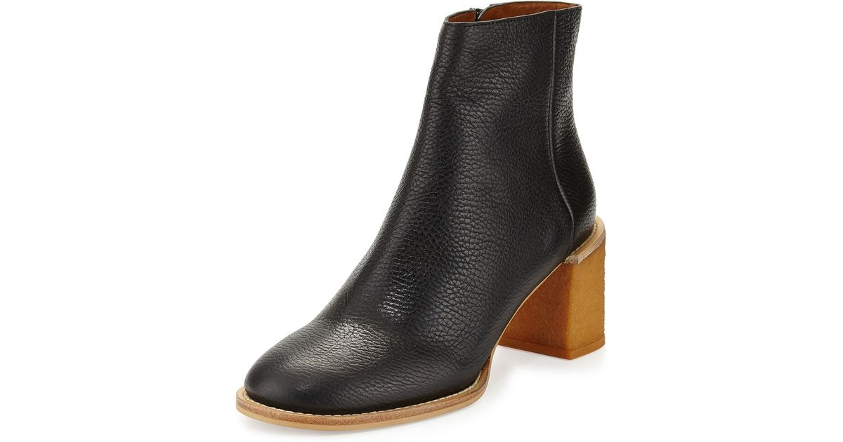 b4b434e1a82 See By Chloé Black Keira Leather Ankle Boot