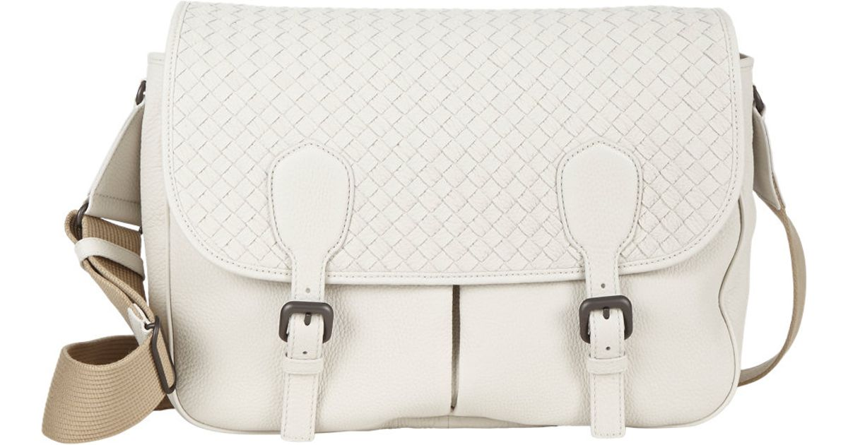 Bottega Veneta Gardena Messenger Bag in White - Lyst b75f0c84a4