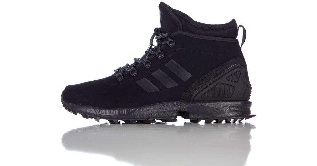 brand new b5000 458d3 Adidas Zx Flux Winter Leather Boot In Core Black for men