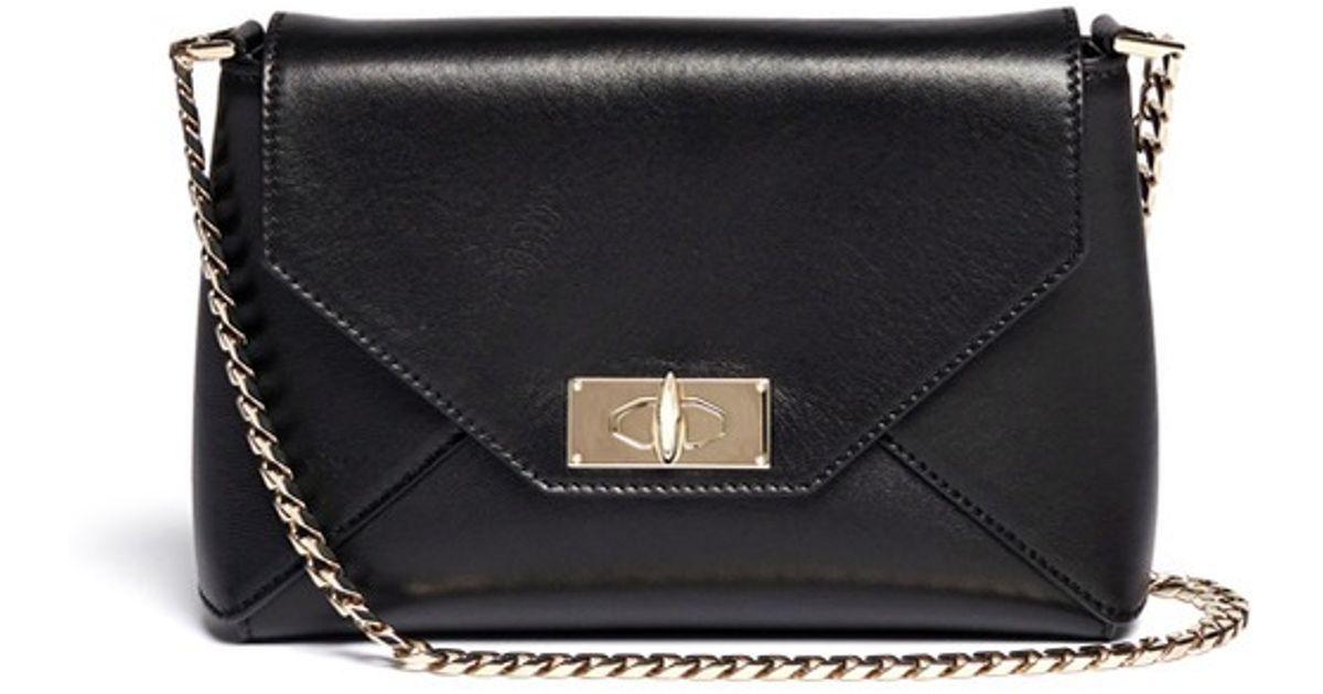 e781c4253c Lyst - Givenchy Shark Tooth Envelope Leather Shoulder Bag in Black