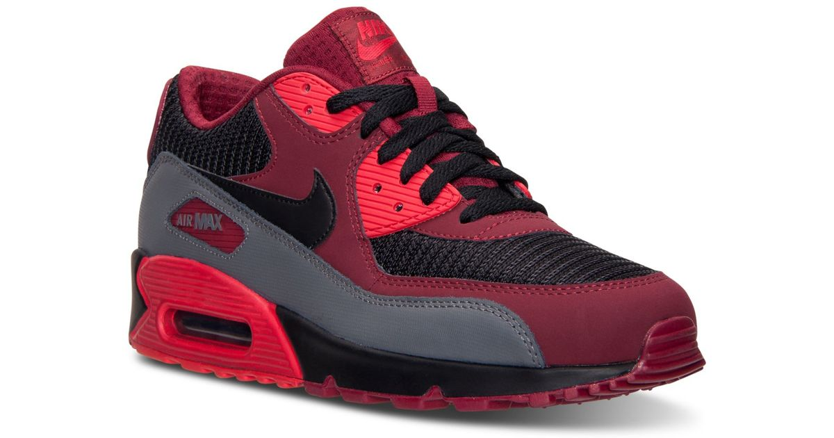 Lyst - Nike Men s Air Max 90 Essential Running Sneakers From Finish Line in  Red for Men bf44de49a