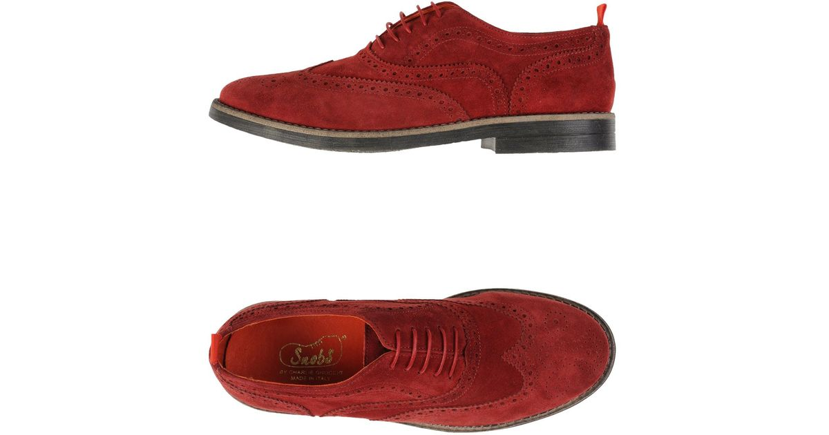 best sneakers 494f2 d5e68 Snobs Red Lace-up Shoes for men