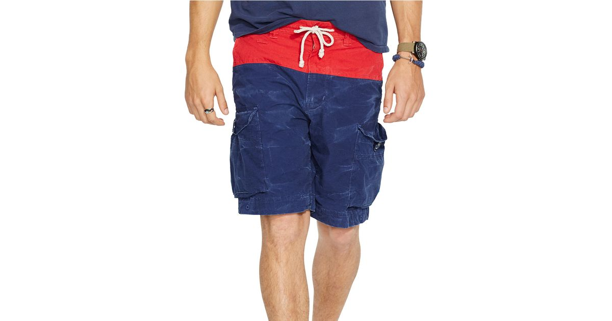 9493e6cc3f51 Polo ralph lauren Relaxed-Fit Nautical Cargo Shorts in Blue for Men