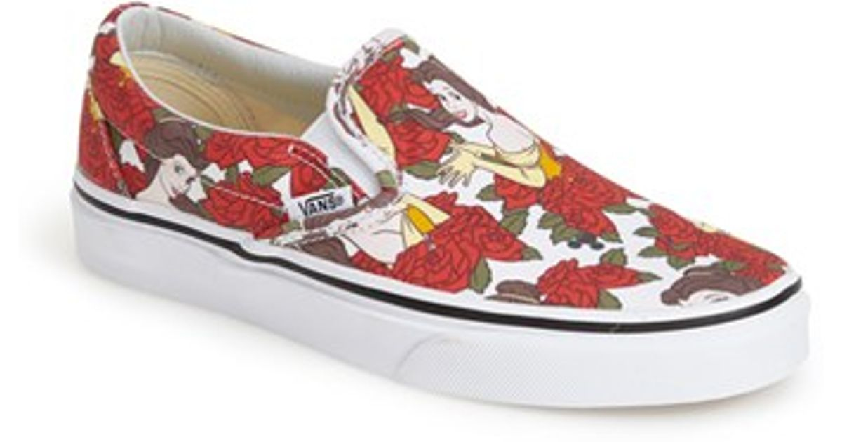 Vans  Classic - Disney Belle  Slip-On Sneaker in White - Lyst 325884507