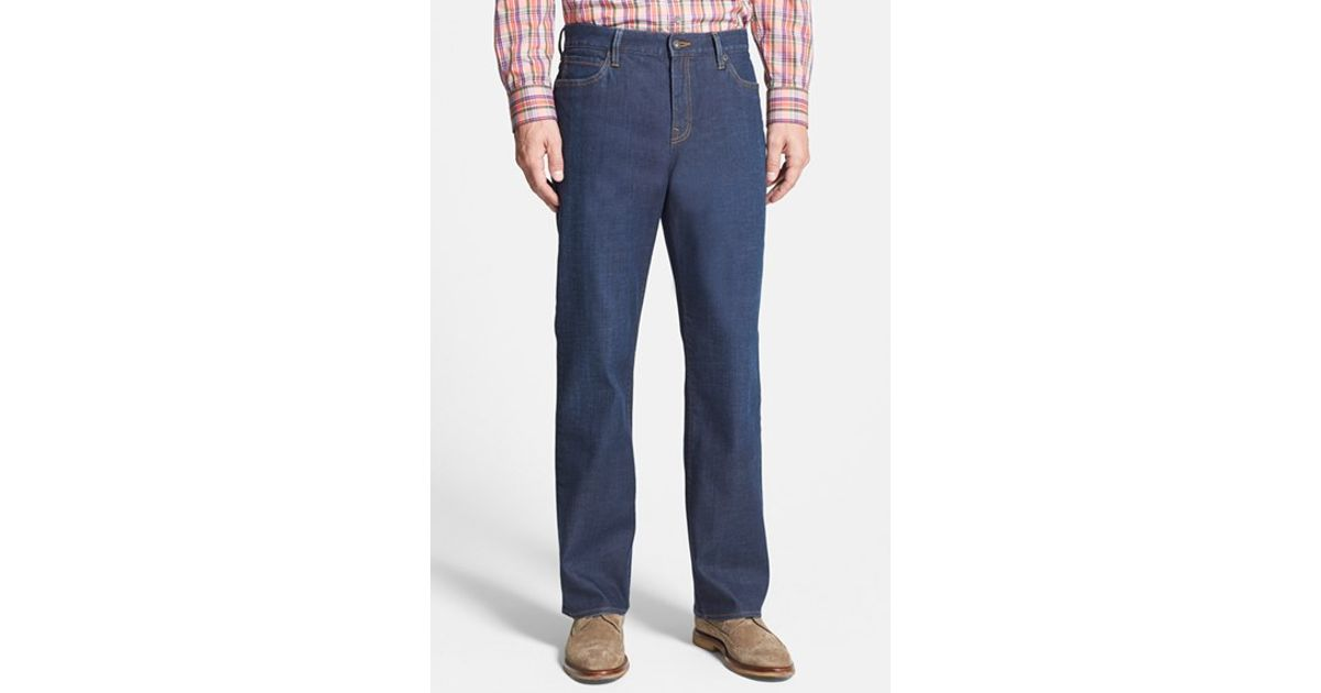 Cutter Amp Buck Greenwood Relaxed Fit Jeans In Blue For
