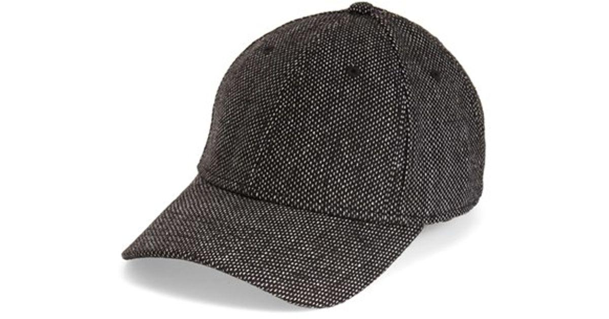 Lyst - Gents Tweed Baseball Cap in Black for Men 2520c08e6c1
