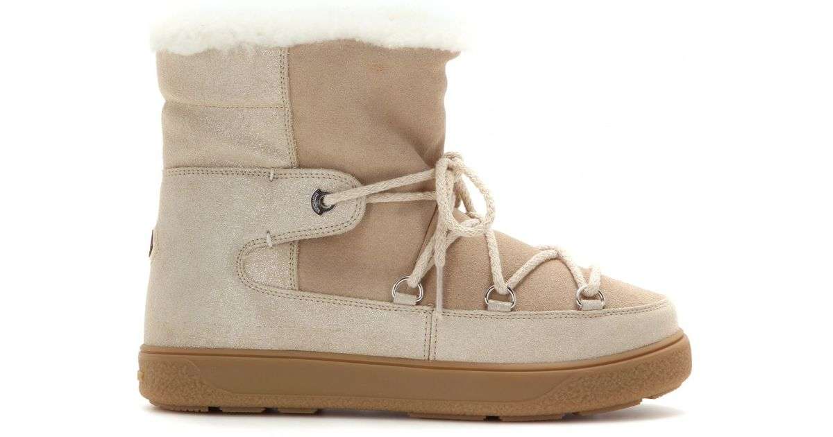 ef3b72839875 Moncler Fanny Ankle Boots in Natural - Lyst