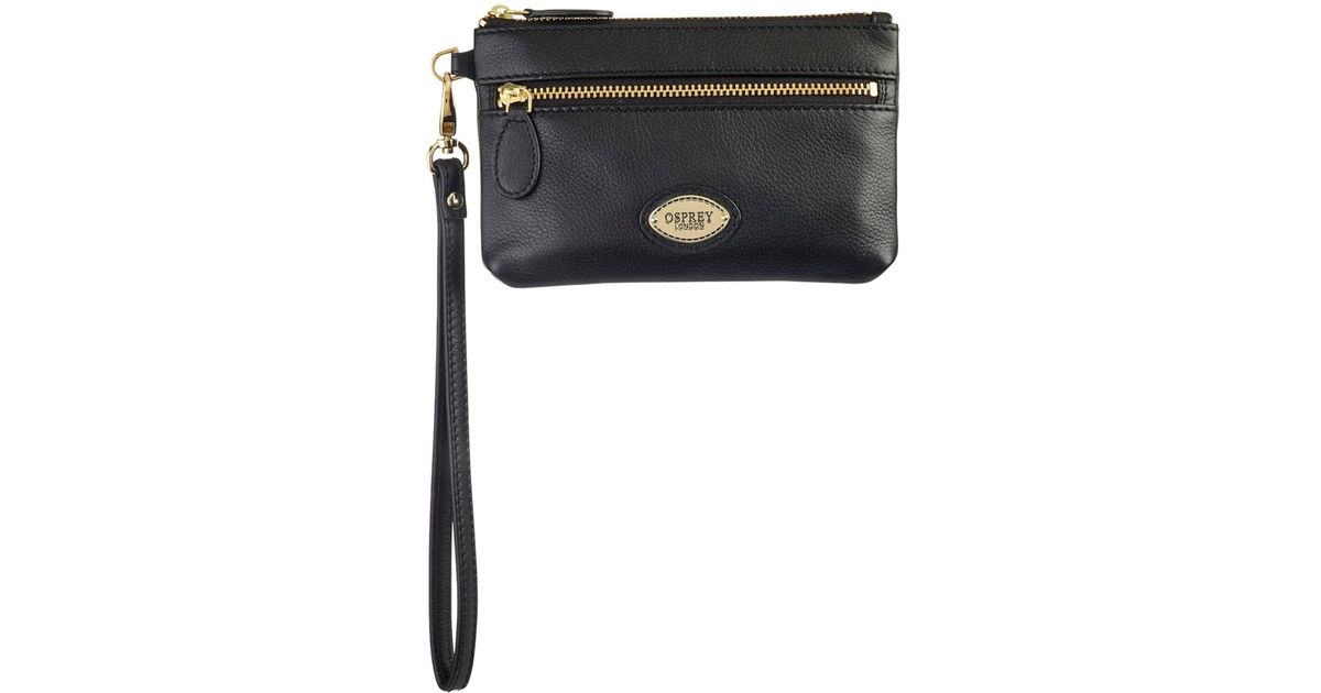 29ed28c5675a Osprey London Hendry Small Zip Around Purse in Black - Lyst
