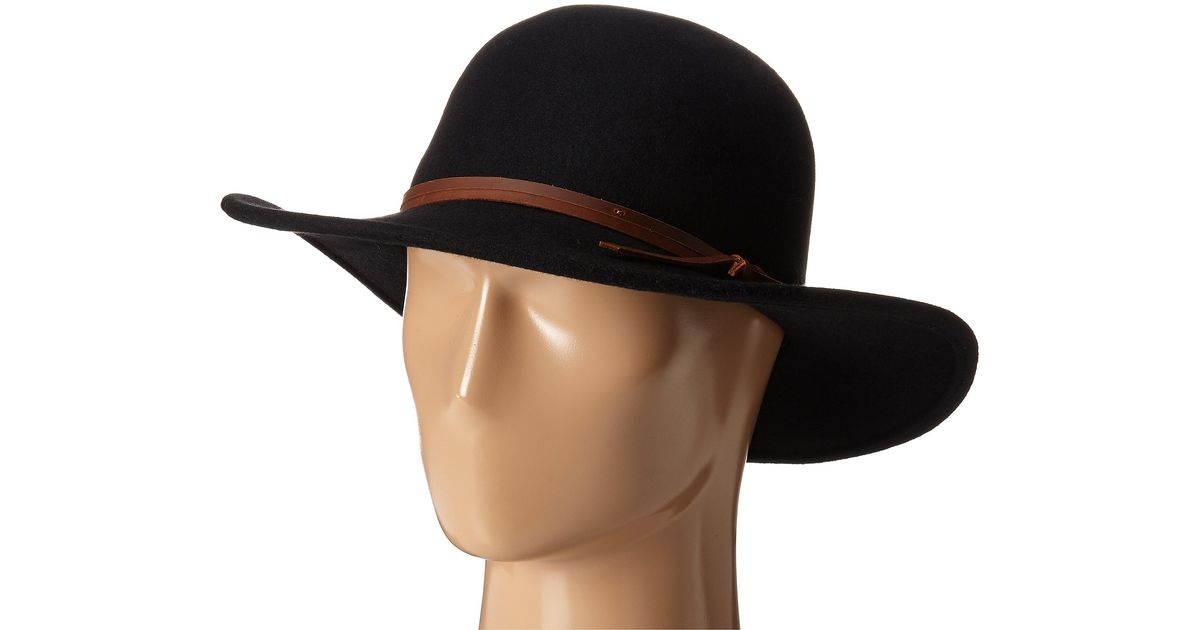 7f98f2c3b San Diego Hat Company Black Wfh7958 Floppy Round Crown And Leather Band