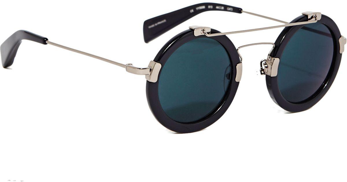bbbf795f14 Lyst - Yohji Yamamoto Men s Yy5006 Sunglasses From Ss15 In Black in Black  for Men