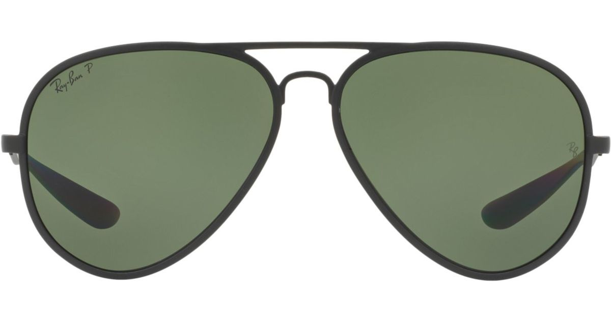 e7f7a3ac386 Lyst - Ray-Ban Rb4180 Aviator Liteforce in Black for Men