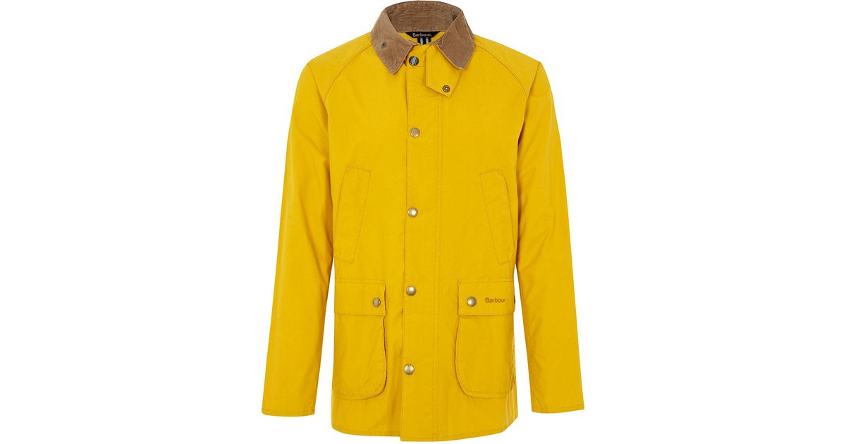 mens yellow barbour jacket