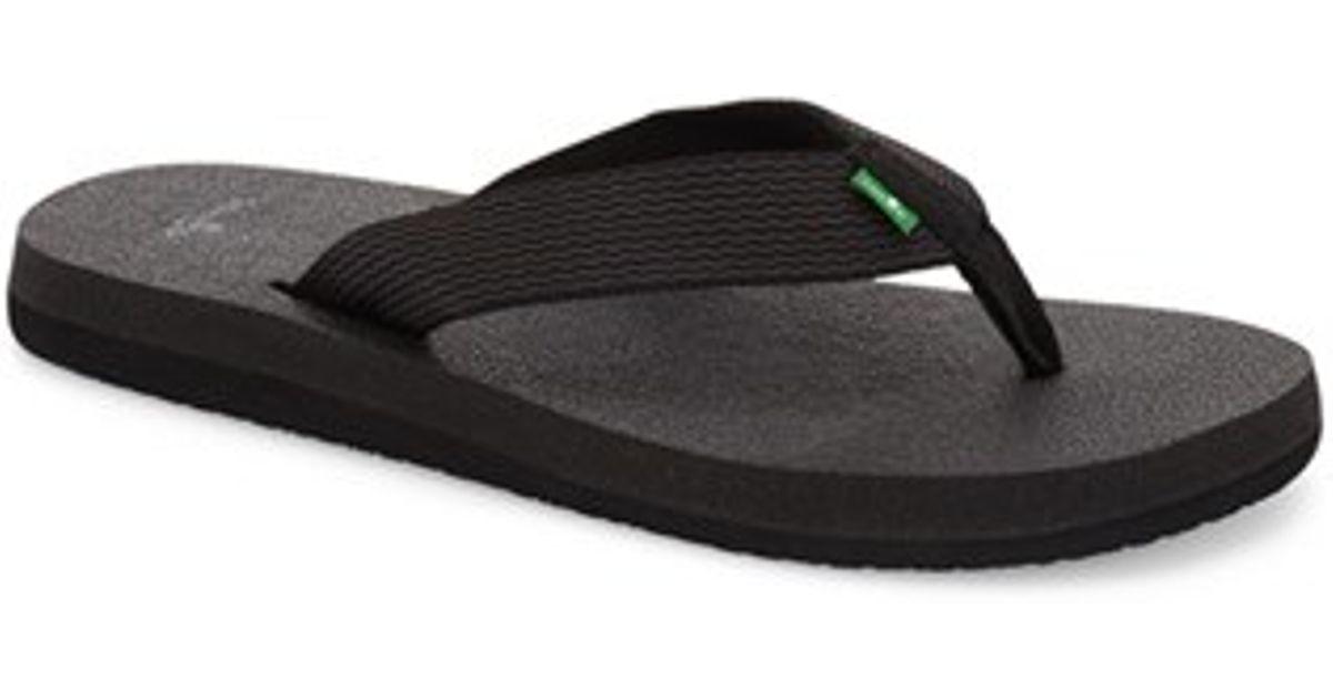 Sanuk Yoga Mat Flip Flop In Black For Men  Lyst-8837