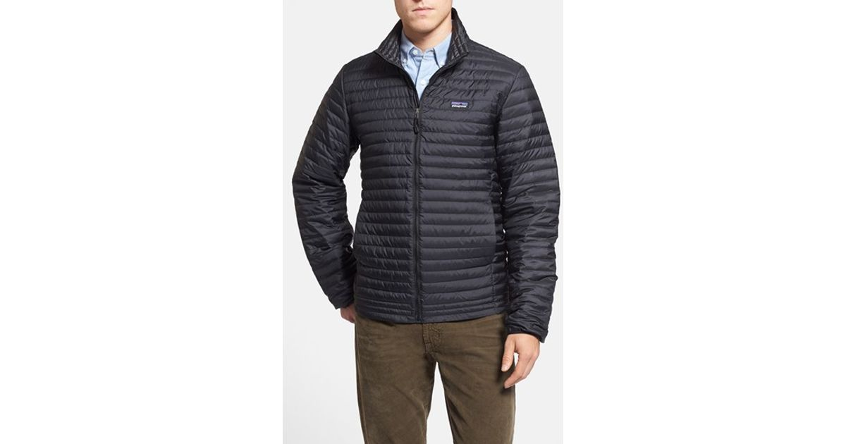 Patagonia Packable Quilted Down Shirt Jacket Black For