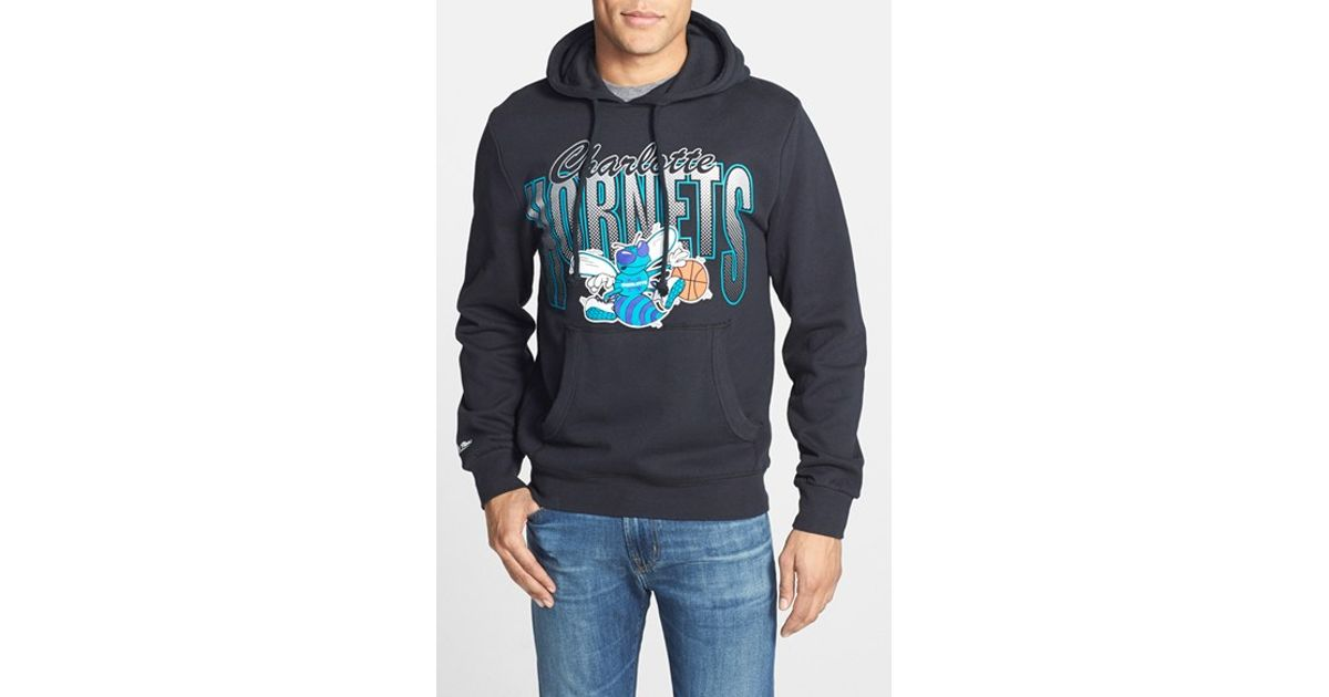 Mitchell ness 39 charlotte hornets 39 tailored fit hoodie in for Custom dress shirts charlotte nc
