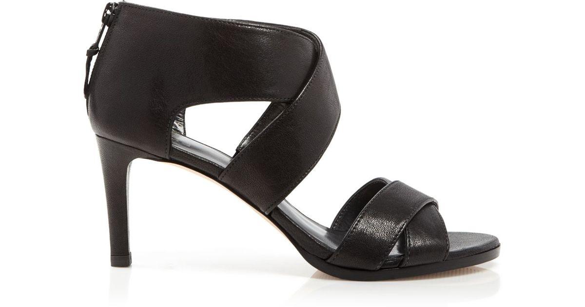 Stuart weitzman Open Toe Sandals - Hugme High Heel Leather in ...
