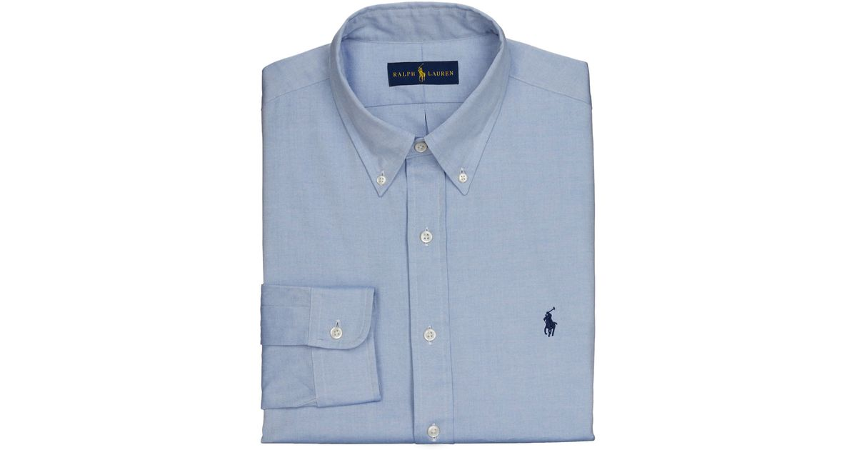 Polo Ralph Lauren Pinpoint Oxford Dress Shirt In Blue For