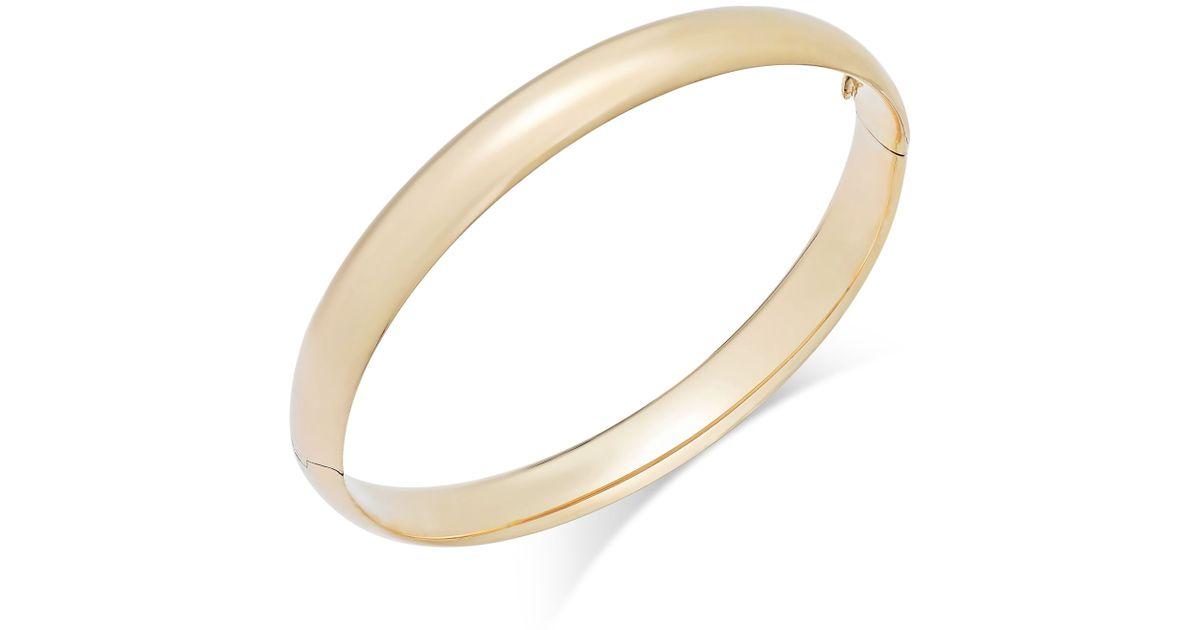 macy s high bangle bracelet in 14k gold in gold lyst