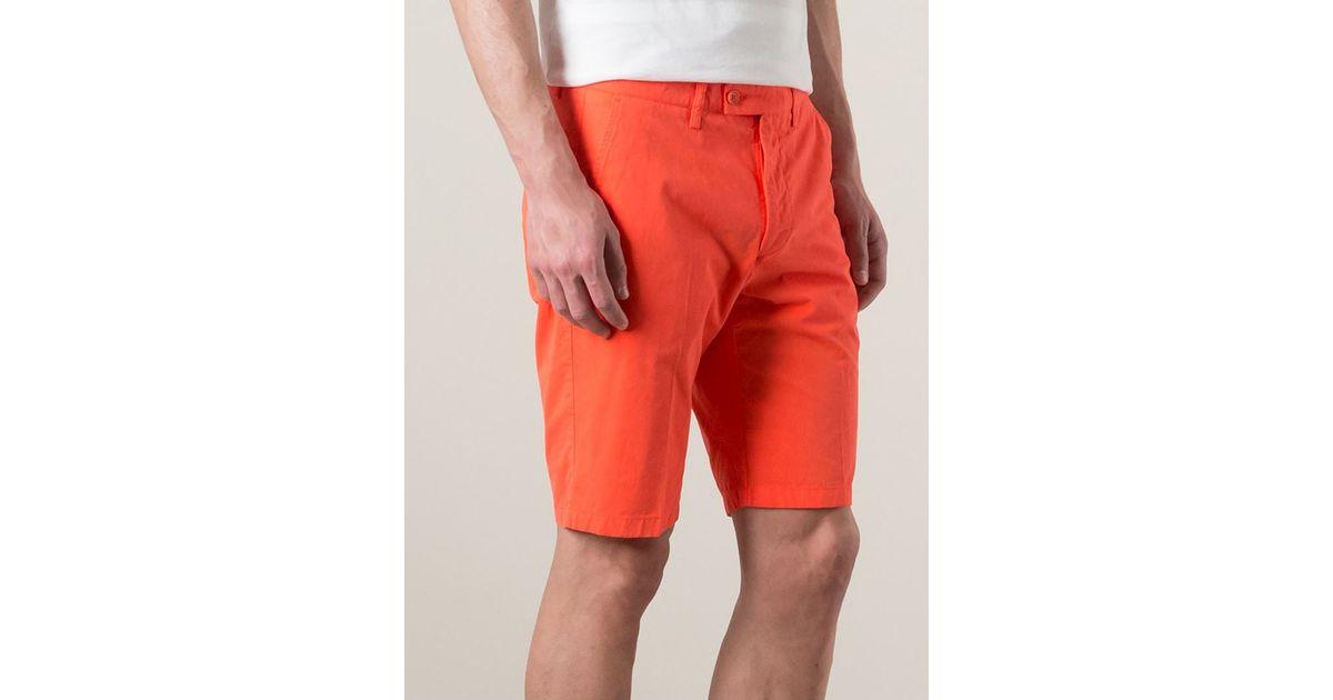 Aspesi Bermuda Shorts in Orange for Men | Lyst