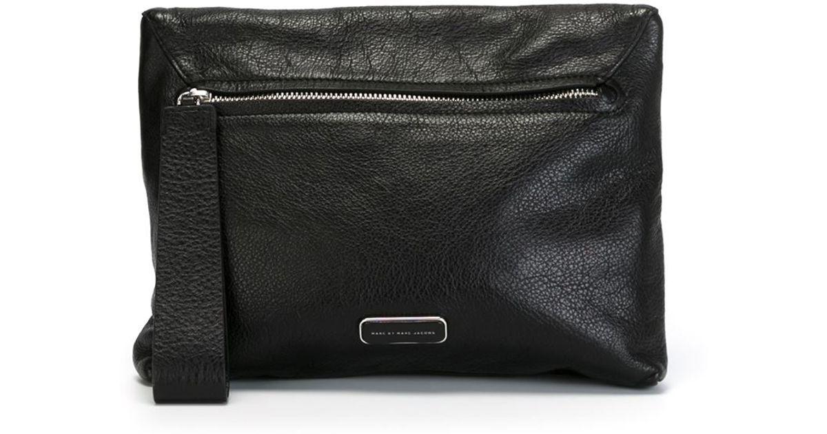 94e53bd49672 Lyst - Marc By Marc Jacobs  shape Shifter  Clutch in Black