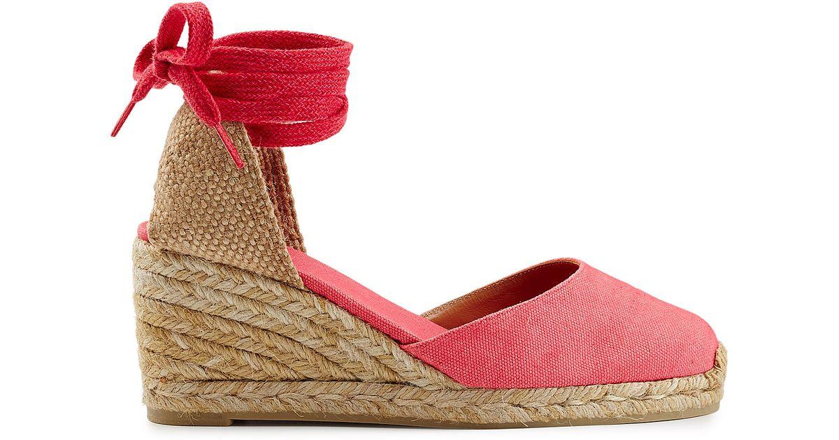 8765712d603 Castaner Castañer Espadrille Wedges - Pink in Red - Lyst