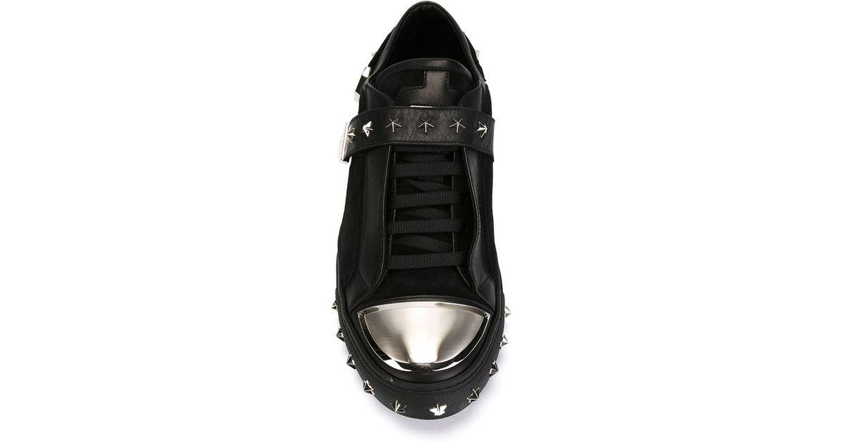 Philipp Plein Star Studded Sneakers in