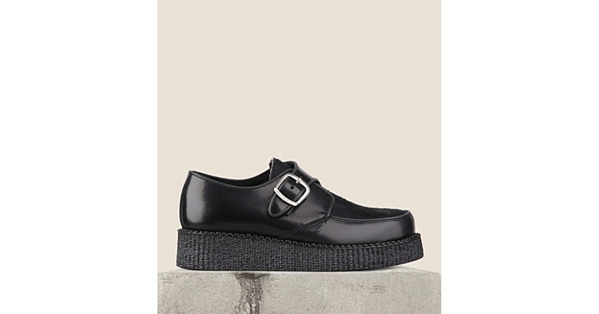 san francisco a8c2b 51556 Underground Black King Tut Leather Monk Shoes - For Women