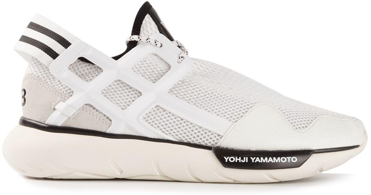 f57ca66a2cc6a Lyst - Y-3 Y3 Qasa Racer in White for Men