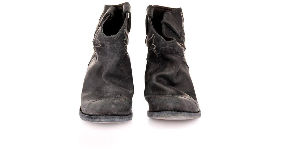 dc32d3f6f2e Golden Goose Deluxe Brand Black Sydney Distressed-Leather Ankle Boots