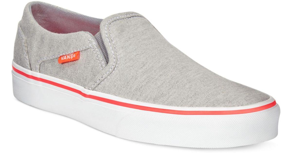 355dd36bee34 Lyst - Vans Women s Asher Classic Slip-on Sneakers in Gray