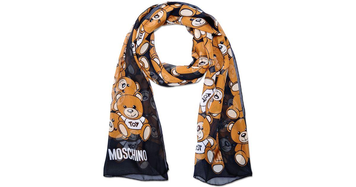 moschino scarf in black lyst