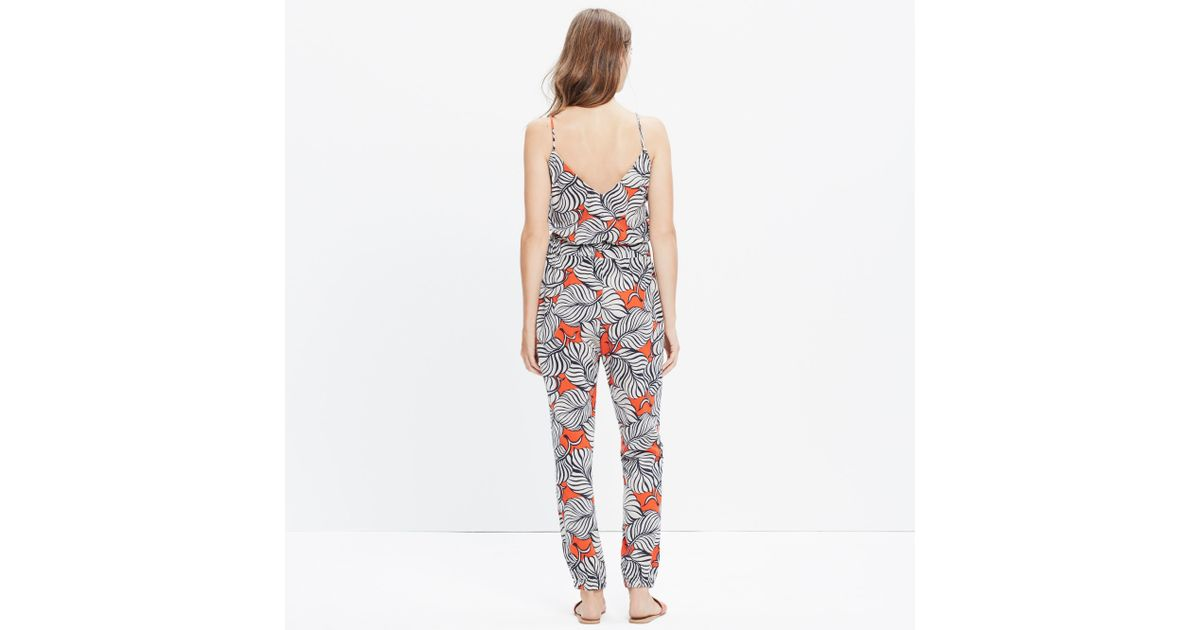 d1371593f460f Madewell Bondi Cover-up Jumpsuit In Vintage Palm in Red - Lyst