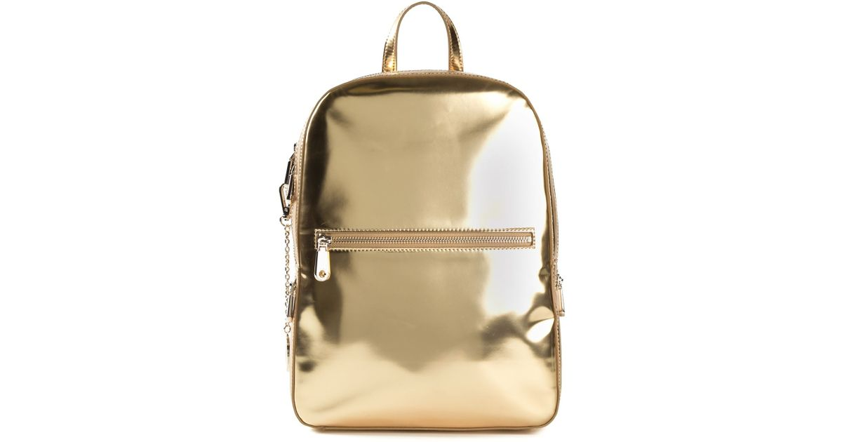 702701eef467 Lyst - DKNY Metallic Backpack in Metallic