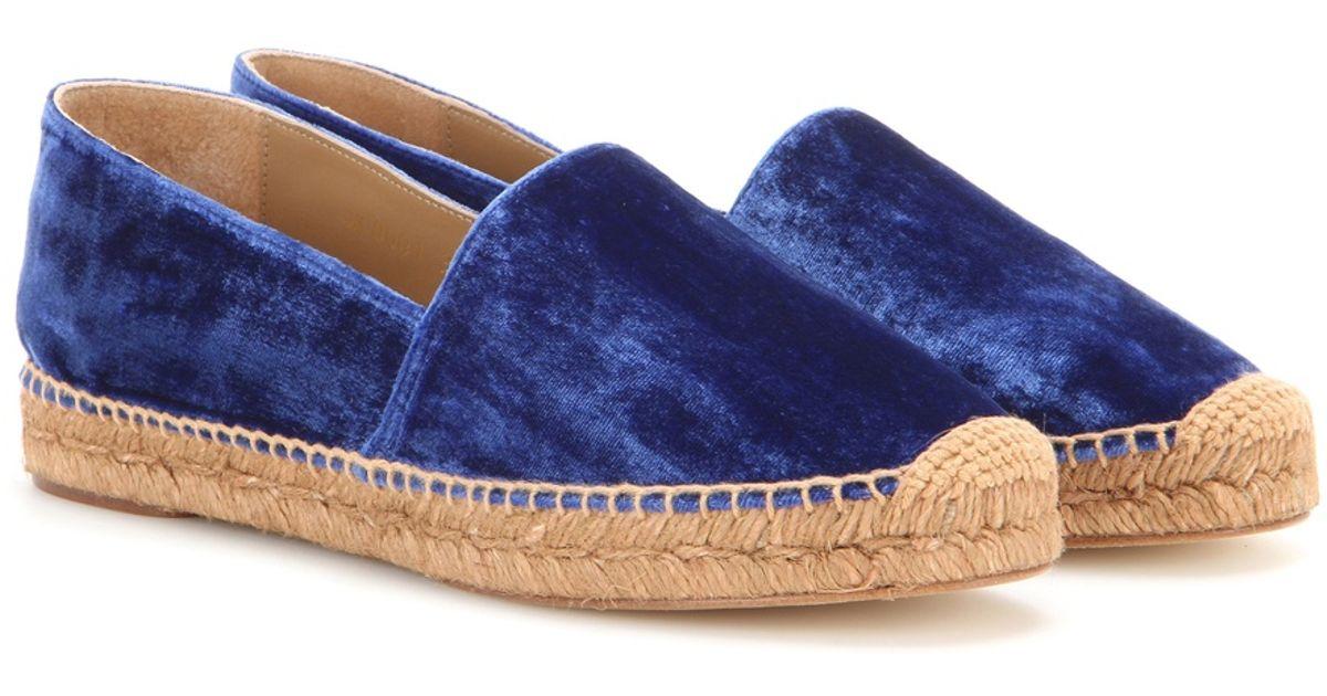 \u0026 Gabbana Velvet Espadrilles in Blue