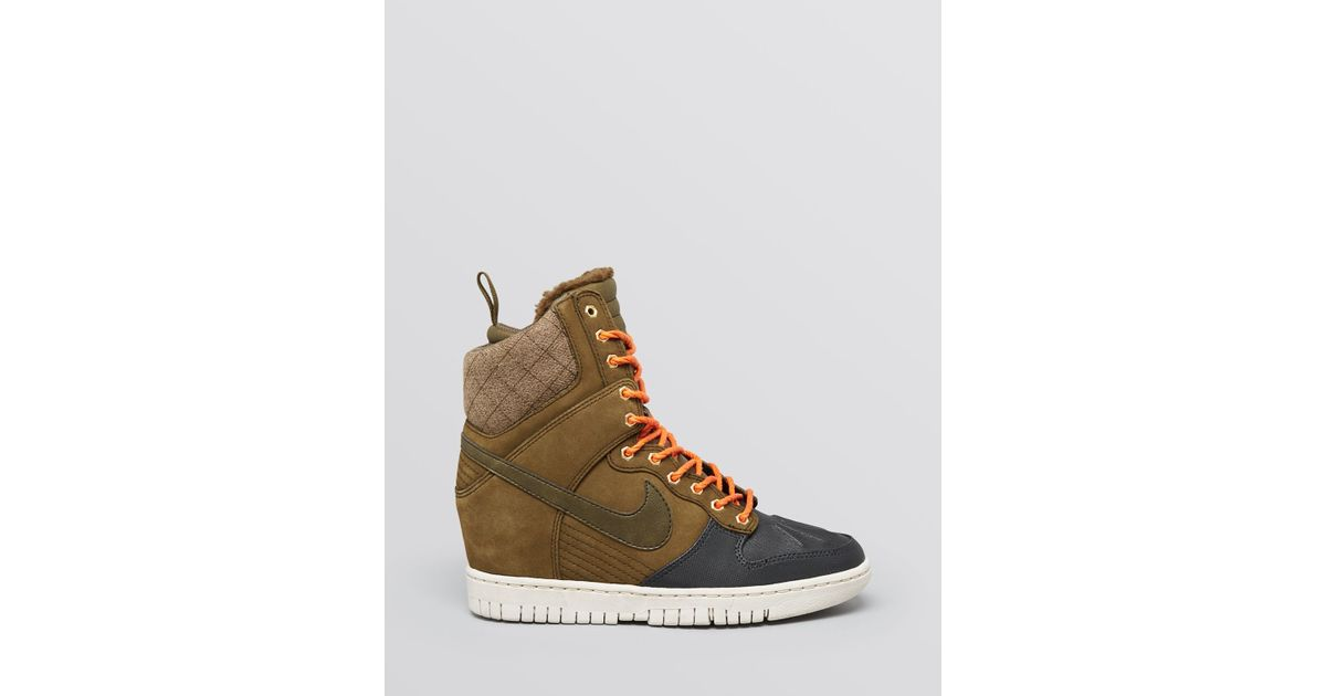 Lyst - Nike High Top Sneakers - Women S Dunk Sky Hi Sneakerboot in Green e078d8712c6f