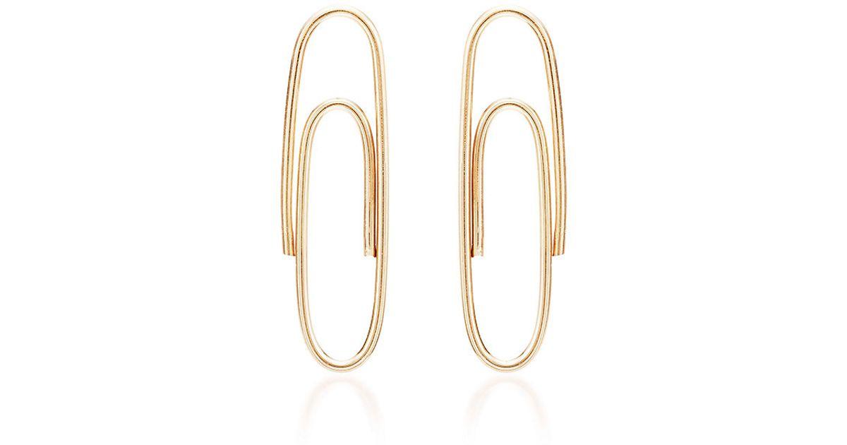 Lauren Klen Paperclip Earrings In