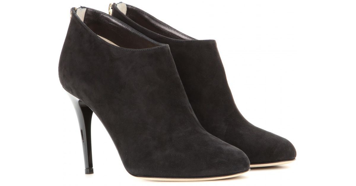 e5e1c239475 Lyst - Jimmy Choo Mendez Suede Ankle Boots in Black