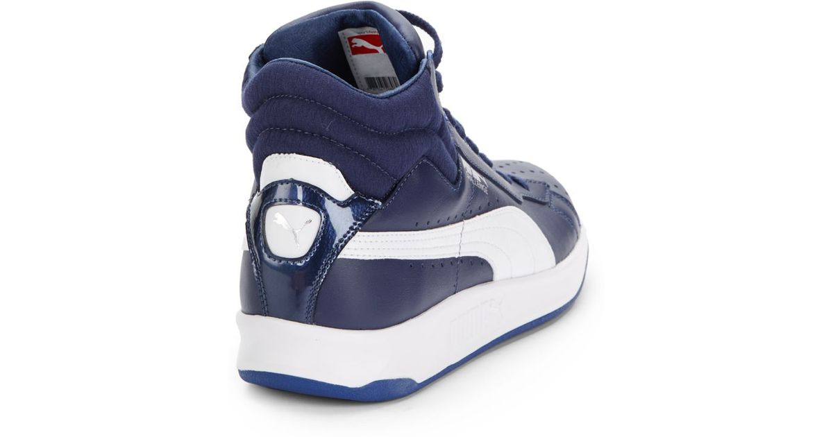 PUMA Challenge Leather Sneakers in Blue