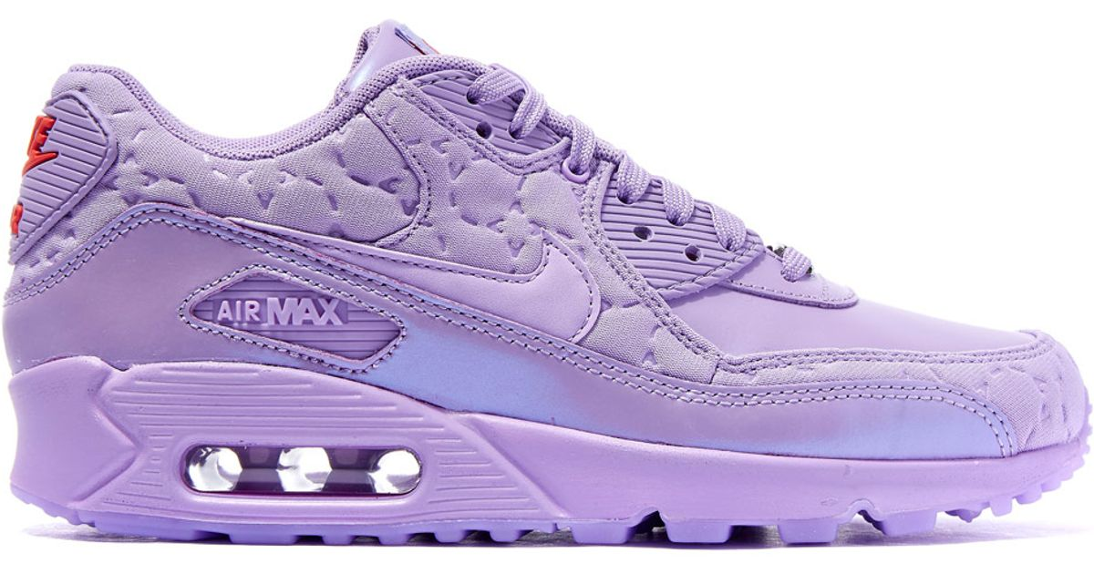 detailed pictures great look for whole family Nike Purple Paris Air Max 90 Sweets Trainers