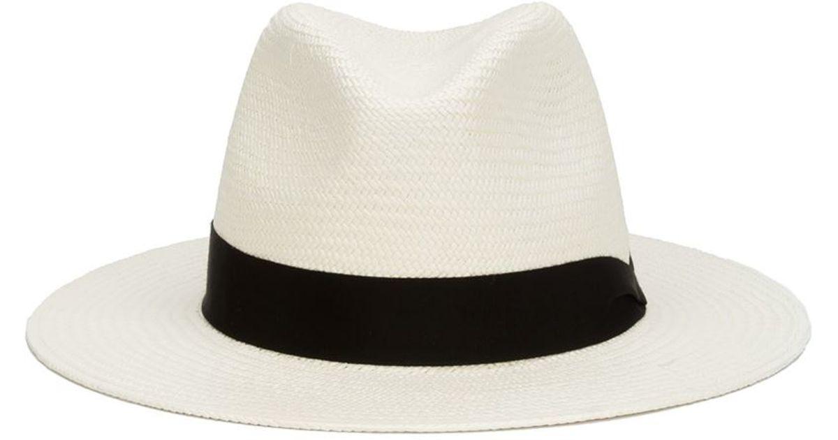 91aad9e749f Rag   Bone Panama Hat in Black - Lyst