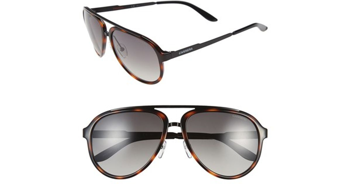 00b7aa8c886 Lyst - Carrera 58mm Aviator Sunglasses - Havana  Brown Gradient in Brown  for Men