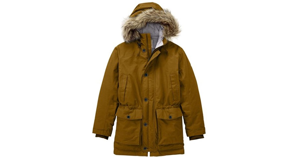 30f5cdbb6e3 Timberland Green 'scar Ridge' Hyvent Waterproof Hooded Down Parka With Faux  Fur Trim for men