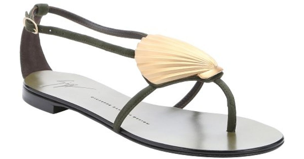 cheap sale wiki Giuseppe Zanotti Shell Thong Sandals discount 2014 free shipping footlocker pictures cheap in China 4INF4NI