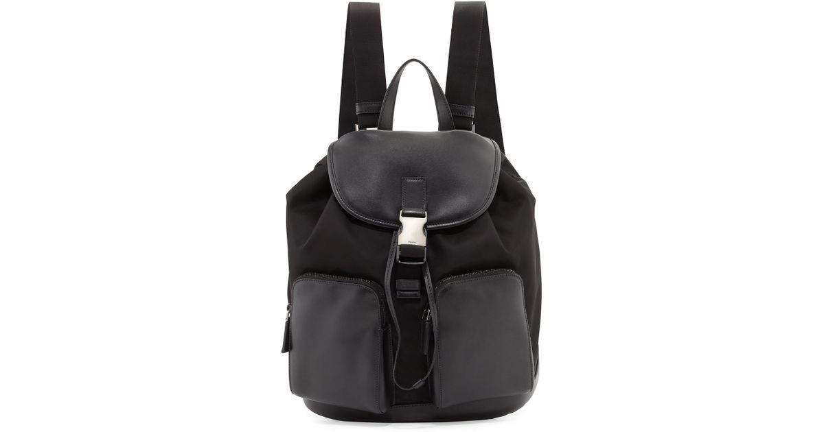 Prada Leather Trimmed Tessuto Backpack Prada Wristlet Wallet