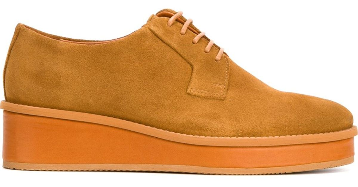 swear platform lace up shoes in beige neutrals