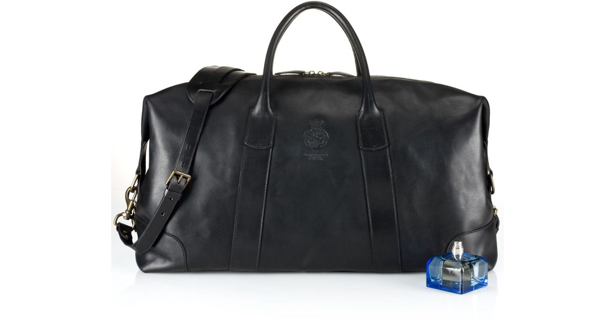62ed9512625 Lyst - Polo Ralph Lauren Core Leather Duffle Bag in Black for Men