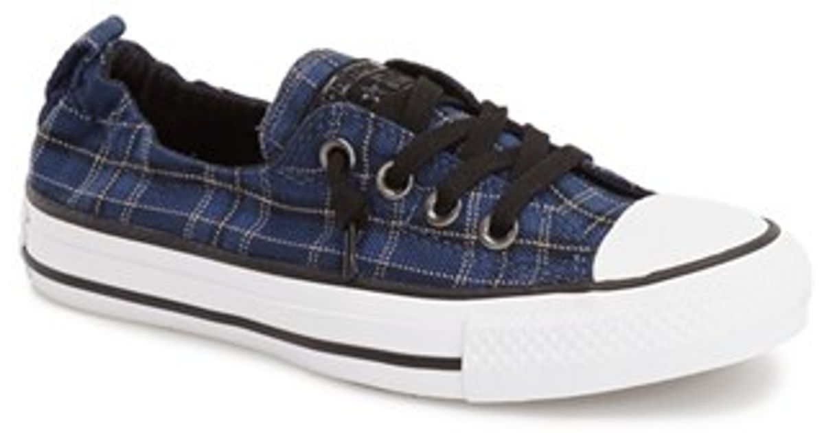 26b33e2da64b Lyst - Converse Chuck Taylor  shoreline  Plaid Slip-on Sneaker in Blue