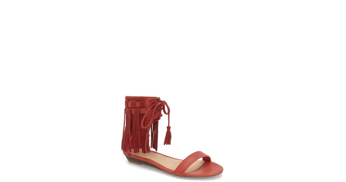a9a21b3ac Lyst - Very Volatile  aubrey  Fringe Lace-up Sandal in Brown